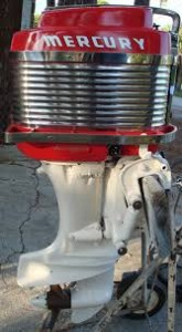 1957 mercury outboard motor and propeller
