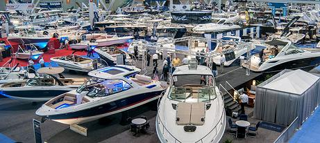 Setting up at the Boat Shows