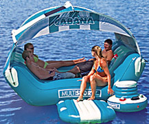 inflatable water island