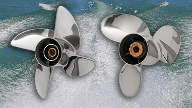 three blade or four blade boat stainless steel props - Powertech propellers